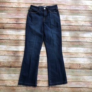 New L'Agence Pacifica Cropped Baby Flare Jeans